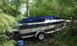 Great shape and running condition 1996 Bayliner 1950 Capri Bowrider with Mercruiser 3.0L 135HP Engine and Trailer. Winter stored entire life of boat, and well cared for!Excellent boat for water skiing, tubing, fishing, and family fun!!CUSTOM COVER, BIMINI