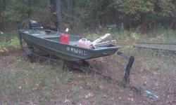 12' Alumicraft boat and trailer. 6hp motor (is either Johnson or Evinrude) Will not take any less than $600. Call Jimmy 318-801-8288Listing originally posted at http