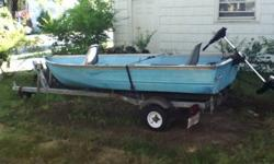 12' V HULL BASS BOAT NO LEAKS TROLLING MOTOR AN TRAILER $600.00 FOR BOAT ONLY $250.00