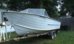 I had bought this boat to restore and use. Due to never having enough time to work on it im selling it. It needs the transom replaced and there is one soft spot at the back. I have already torn out the old transom. All the pieces are there. The seats are