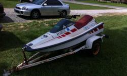 Cosmetic wise is a little rough, but mechanically Runs excellent comes with trailer has new battery, and i have just cleaned carb and rebuilt the fuel pump. Had it at the lake this weekend gps'd it and it will run 30mph on the water has a 500cc engine.