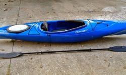 Selling used Dagger Blackwater 10.5 kayak perfect for lakes, bayous, and slow moving rivers. Kayak has some minor cosmetic scratches along bottom of hull but other than that it is in excellent condition.Kayak specs