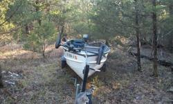 "15"" Semi-V bottom Yamaha built boat w/ 7.5 HP Clinton motor, like new trolling motor, trailer, 2 seats, 2 life vests. Have title. $600 or best offer. Evening Shade area. Call Dave 870-283-1843"