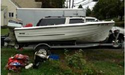 with Trailer, 70HP Evinrude motor, two Cycle, Call for more details, $600. (203) 915-4867 or (203) 915-4787 Meriden, CTListing originally posted at http