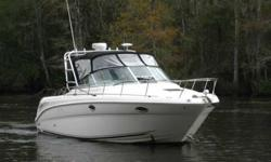 2005 Sea Ray 290 AMBERJACK One Owner Boat With 160 Hours Since New! New Camper Canvas Package New Garmin 5200 Radar/GPS/Chart Plotter Generator Aluminum Arch With Rocket Launchers Cope N is a brokerage boat, stock number 104194, located in Chocowinity,