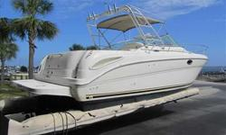 2003 Sea Ray 290 AMBERJACK This Amberjack is a very nice crusier or fishing boat that has been lightly used.With a 21 degree dead rise this boat will be the ride that will allow you to do both offshore fishing or just cruise the waterways with the family.