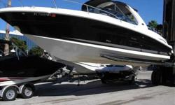 2006 Sea Ray 290 SUN SPORT Kept in Enclosed Storage since new in 2006. Only 220 Hours on 350 Magnum engines with 300 HP. Bravo One Drives. Black Two Tone Gelcoat, Sport Spoiler with Overhead Lighting, preffered Option Group includes Battery Charger, Snap