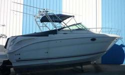 2005 Sea Ray 290 AMBERJACK This boat has an outstanding layout. Perfect for cruising, fishing or sunsets.The cabin has the feel of a much larger vessel. Dinette, fridge, galley, aft cabin, stand-up head, hot water heater, fresh water system, AC &