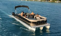 """2011 Premier 250 Grand Isle I/O PTX-42 ( Factory Demo Package! ) $64,995 No Trailer.. * Mercruiser 496 MAG HO with Bravo III* Proto Type PTX-42 Performance Tri-Toon Package* Front & Rear Bimini Top* Black and Moon Rock (Tan) Colors* """"Loaded"""" with Featurs"""