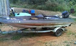 74 tide craft boat 16 ft,80 horse mercury moter,ez loader trailer,boat needs new set covers and carpet.Wil trade for camper
