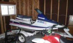 For sale a 1990 kawasaki 650 tandem sport jet ski with a shorelander trailer, im asking 650.00 obo or possible trade. titles r both clean. call me if interested 317-544-9302 (benton)..thx for your time Listing originally posted at http