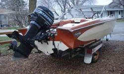 Selling a 1975 Glastron V156 Aqua Lift with an 85 horsepower Merc with power tilt and trim. It's all on an EZ Loader roller trailer with electric winch. The boat needs a new floor and has a couple minor issues with the electrical (needs points,rotor,