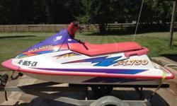 I'm selling a Polaris SL 750 personal watercraft with galvanized trailer. Has been kept under a covered carport for the past 10 years. Has not been cranked since then. Everything appears to be in decent condition. Sale is as is and pick-up only. I'm