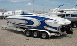 425 HP Mercruiser 496 Mag HO, Through Hull Exhaust, Bravo One X, 4 Blade SS Prop, Drive Shower, Open Bow Mid Cabin, Bimini Top, CD Stereo System, Tilt Steering Wheel, Drop Out Bolster Seats, Large Integrated Swim Platform w/ Ladder & Pop-Up Ski Tow Pylon,