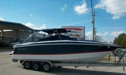 2005 Cobalt Boats 282 Cobalt 282 with Twin 5.0L GXI Volvo Duo Prop outdrives. Approximately 55 hours on this beautiful, large twin engine express open bow cruiser with go-fast capability! High performance Livorsi indent shifters for the twin V-8 power.