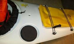 Like new Jaskson ibis Kayak. Price includes a gopro water proof camera, elite seat, seal skirt, and large jackson drybag.I purchased the Kayak last week and have decided to buy a tandem so my wife can come along. This Jackson ibis is confortable stable