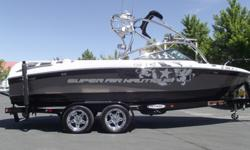 Classy and clean. This one owner Super Air Nautique 230 team has been well taken care of and looking for a new home. It is loaded to the hilt with every option from Nautique and then some. Tower speakers, tower lights, bimini, tower mirror, spinner