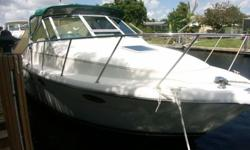1993 Tiara 29 Open in excellent condition, twin Cruisader 260 inboards, Great cockpit layout with transom fold up seating, dive door, large swim platform. Electronics include Furuno C-MapNT, I-com VHF, Jenson Am-FM-Cassette, Cabin features Forward double