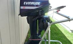 This is a 1989 Evinrude 6hp short shaft 2 stroke motor. I have not used it in two years so I got fresh gas and I ran it in a tank and it runs out good and pumps tons of water. The motor cosmetically looks really good. It has new decals, a new paint job