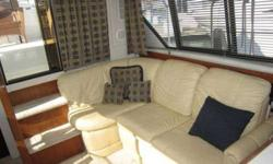 1993 Carver 390 Cockpit Motor Yacht. CRUSADERS with only 480 hrs.; (2) electric heads; (2) reverse-cycle A-C's; microwave; refrigerator; stove; sink; V-Berth; Master aft cabin berth; ice maker and sink on aft deck; upper/lower steering stations;