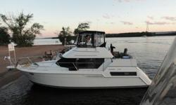One of Carvers best and most popular designs now available! This boat is clean with up to date interior and spacious living area. The aft cabin layout provides two staterooms and two bathrooms; easily sleeping 8 with the addition of the pullout couch and