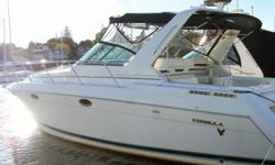 This 34? Formula F-34 PC 1999 is located in Milford, CT. Wow, what a boat! For those looking for a pristine vessel that is fully loaded, in tip-top running condition, and complete with some serious creature comforts, this boat has got to be on your short