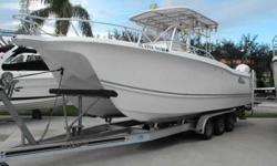2007 Pro Sports 29 PRO KAT This is a one owner lift kept ProKat perfect for offshore fishing or a day at the sand bar. Very nice condition, low hours and easy to see at MarineMax Stuart. Trailer included! For more information please call