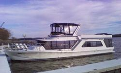 """? Take a look at a well maintain 1985 Bluewater 51'. This vessel is powered with twin 454's 350HP, with a low hour 11KW generator. The Bluewater provides a very spacious salon with a new 27"""" flat screen. Its sleeps 6 comfortably, with 2 private quarters,"""