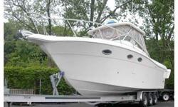 Beautiful fresh water boat, Twin Steyr 246 Turbo dieselsI/O with Mercruiser outdrives, 440 hours, Boat is immaculate, Furuno 1833C radar/GPS, windlass, Lowrance side sonar, VHF, AIR CONDITIONER-Heat, twin burner flat top stove, refrigerator, microwave,