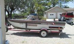 this is a 1989 smoker craft magnum 17' alluminum v bottom with a 50 hp mercury electric start and power tilt and trim motor, with a new impeller. it also has a new bilge pump, new live well pump, new live well tube, four mounted pole holders, newer
