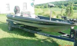 1992 ranger 374V BASS BOAT WITH A 150HP. JOHNSON FAST STRIKE WITH MATCHING RANGER TRAILER. ASKING $6000.00 OR OBRO. JUST GOT IT BACK FROM GILLES OVER $900 IN A TUNE UP AND PARTS AN LABOR. DUAL FISHFINDERS,12/24 TROLLERING MOTOR,NEW LIVE WELL PUMPS LAST