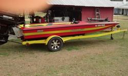 All composite transom, stringers, and extended deck. Trailer has been sand blasted and painted, also has new wheels and tires. Has a 10in Jack plate, hydraulic steering, and motorguide trolling motor. Motor on the boat has been freshened up by Paul