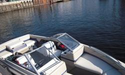 1995 Bayliner capri 1950135 hp mercruiser AlphaOne 3.0 Litre, 28 gallon tanks, 2 batteriesTrailer is an Escor 1995 with spare tireFit up to 8 peopleFully functional stereo radio new from last year (audio jack, usb, sd card)Bimini top.Equipment included