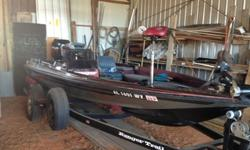 1989 Ranger 360V Bass Boat with 24 Volt Tolling Motor, 175 Mercury EFI, Twin Gas Tanks, On Board Battery Charger, Eagle Color Fishfinder/GPS, Boat is in Very Good Condition and has been stored in Garage. Contact # 334-493-4821.