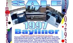 1997 Bayliner 2050 BR Throttle Body Fuel injectedMore pics at RMMARINECOM DA3586Need just a little more power? You got it all right here! V6 throttle body injected motor gives you well over 200 hp and is ready to play while saving money on fuel. This boat