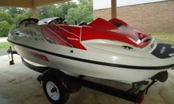 1998 SeaDoo Speedster Jet BoatGreat Condition - Very Clean - Runs Great220 HP (Twin 110 HP Rotax 80cc engines)Low Hours (128+/-)Trailer w/spare tire includedCall Shawn today - 423-718-4311