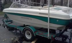 Very clean - runs smoothly with top speed over 40mph. Boat is 1996 but has a rebuilt 4.3 V6 Merc - May 2012; 180 HP. Lots of new features. Call Joe at 216 524 2143.