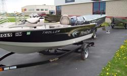 We have a 14' Mirrocraft with a 25hp Mercury great boat feel free to come on buy any time between 8