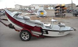 This 2005 Hyde Low Profile Drift Boat is just beginning the reconditioning process! This boat includes the Hyde famous G4 polycarbonate bottom shoe for extra strength and slickness, a bow storage compartment with door, front pedestal with Tempress fishing