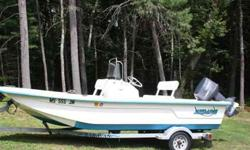 2006 17ft Sundance skiff in like new condition. 70 HORSEPOWER yamaha two stroke w/original hr meter showing 188 hours,also in like new condition,karavan trailer in superb condition. Forward casting platform w/ lots of dry storage. Nice size livewell built