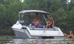 """1986 ½ Wellcraft Elite 220XL 23' bowrider seats ~11 New remanufactured Marine 350 cubic inch, 260+ HORSEPOWER engine. Replaced everything and powder coated all metal before installation. Engine well was torn out and all new pressure-treated 2"""""""