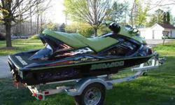 2005 SeaDoo RXT Supercharged three person PWC for sale. Black and Green with Chrome accents, this is a very great looking machine! Always dealer serviced and maintained. Just had it inspected at the dealer, everything is mechanically great. The