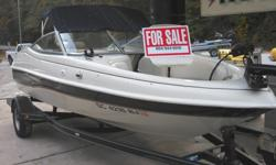 This is a great boat for skiing, fishing or just cruising around the lake! Boat is in excellent mechanical and cosmetic condition. 3.0 Mercruiser I/O engine. Includes two fishing seats, trolling motor and a trailer. Please call 864-498-3673 for more info.