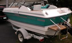 VERY CLEAN BOAT WITH 4.3 V6 MERCCRUISER. TREAK ACCENTS, CLEAN CUDDY, MARINE PLASIC LIDS, WELL MANTAINED AND ALWAYS STORED INSIDE. FACTORY DEPTH FINDER COCKPIT COB=VER AND FULL COVER INCLUDED.