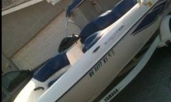 Yamaha jet boatYAMAHA EXCITER 1999 TWIN JET BOAT 275 horse power of pure fun two 1100 cc motors -5 seater -built in beer chest -built in cd radio (new speakers) -bimini top -custom yamaha boat cover-light weight yamaha trailor the boat and trailor are in