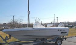 2006 SEA FOX 187 CENTER CONSOLE BOAT, MOTOR AND TRAILER. THIS SUPER CLEAN PACKAGE HAS NEVER SUSTAINED ANY TYPE OF PRIOR DAMAGE AND HAS NO PRESENT DAMAGE. THE BOAT HAS ONLY 48 WELL CARED FOR HOURS AND RUNS OUT GREAT. THE BOAT IS POWERED WITH A 90