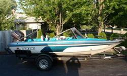 1995 17' Javelin Fish & Ski, Seats 5 people, GREAT family boat! 90HP Johnson, Oil injected 2 stroke 55lb Minnkota trolling motor Garmin fish locator Ski Bar Livewell & built in cooler Plenty of storage Front and rear casting decks with pedestal seats One