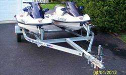 hi your looking at a pair of 2001 kawasaki stx 1100 jet ski ,3seaters,they have very low hours on them ,#1 only has 77 hours and #2 only has 79 hours,used in fresh water 98% of the time ,they both have brand new batterys,and have been serviced by