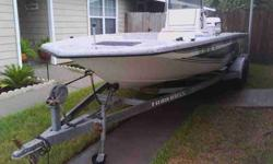 22' Cajun Solid Boat with new gel coat and webbing New upholstery Very Strong well maintained 140 HORSEPOWER Johnson Looper. New tilt and trim and All new bearings and gears in lower unit. New Power pack Spark plugs and wire. Binnacle controls, New