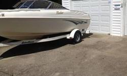 check out this awesome boat. Its a 2001 Rinker 180 Bowrider in great condition . Hold up to 6 passengers, has bran new Stereo with Ipod inside, new Amp,subwoofer with Infinity speakers. This boat is great on gas and runs great. 3.0 Mercruiser inboard